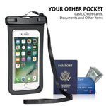 Capshi Waterproof Phone Pouch, 2 Pack Universal Waterproof Case Waterproof Phone Case IPX8 Available TPU Clear Dry Bag for iPhone X/Xs/XR/8/8plus/7/6s/6 Samsung up to 6.3""