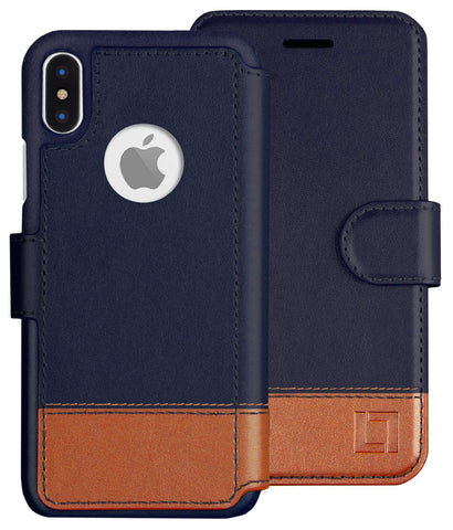 LUPA iPhone Xs Wallet case, iPhone X Wallet Case, Durable and Slim, Lightweight, Magnetic Closure, Faux Leather, Desert Sky, for Apple iPhone Xs/X