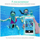 Mpow Universal Waterproof Case, IPX8 Waterproof Phone Pouch Dry Bag Compatible for iPhone Xs Max/Xs/Xr/X/8/8plus/7/7plus/6s/6/6s Plus Galaxy s9/s8/s7 Google Pixel HTC12 (Blue+Pink 2-Pack)