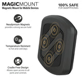 SCOSCHE MAGDMB MagicMount Universal Magnetic Phone/GPS Mount for the Car, Home or Office in Frustration Free Packaging