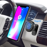 WizGear Magnetic Mount, Universal Stick-On Dashboard Magnetic Car Mount Holder, for Cell Phones and Mini Tablets with Fast Swift-snap Technology, Magnetic Cell Phone Mount