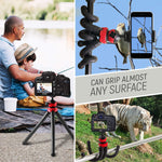 "Flexible Tripod for iPhone, 12"" Smartphone Tripod + High-Speed Bluetooth Remote for iPhone, Samsung, Compact Gorilla Tripod Stand 360° for GoPro, Cell Phone and DSLR Camera (Tripod + Remote)"