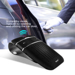 SOAIY S-32 Voice Command Hands-Free Bluetooth in-car Speakerphone, Wireless Bluetooth Car Kit for Safely Driving with Shake Power On Function