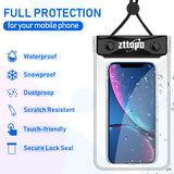 Universal Waterproof Case, (2 Pack) Zttopo IPX8 Waterproof Phone Pouch Dry Bag Compatible with Apple iPhone Xs Max XR XS X 8 7 6S Plus, Galaxy S10/S9/S8/S8 +/Note 9 8 6 5 Pixel LG up to 6.5 inch