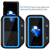 LOVPHONE iPhone 7/8 Plus Armband Sport Running Exercise Gym Sportband Case for Apple iPhone 8 Plus/iPhone 7 Plus/iPhone 6 Plus/6s Plus, with Key Holder & Card Slot, Water Resistant (Blue)