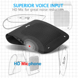 Slopehill in-car Bluetooth Speakerphone, Hands-Free Visor Bluetooth Speaker, Automatic Cellphone Connection for Safe Drive Talking (Clip Design)