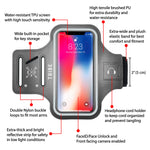 TRIBE Phone Armband, Cell Phone Holder for Running with Key Holder, Fits iPhone Xs MAX/XR/8+/7+/6+ Galaxy S9+/S8+/Note and Similar Sized Large Phones, Grey