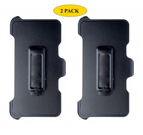 "AlphaCell Holster Belt Clip Replacement Compatible with OtterBox Defender Series Case for Apple iPhone 8 Plus, iPhone 7 Plus, iPhone 6S Plus, iPhone 6 Plus (5.5"" ONLY) - 2 Pack"