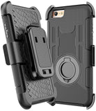 iPhone 6S Case, iPhone 6S / 6 Holster Defender Case E LV Shock-Absorption / High Impact Resistant Armor Holster Defender Case Cover with Kickstand and Belt Swivel Clip for iPhone 6S / iPhone 6 with 1 Stylus, 1 Screen Protector and 1 Microfiber (Black circ