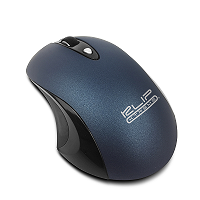 Marca: Klip Xtreme; Código MPN: KMW-400BL; Klip Xtreme GhosTouch KMW-400 - Mouse - ergonomic - optical - 3 buttons - wireless - 2.4 GHz - USB wireless receiver - blue