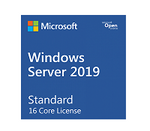 Marca: Dell; Código MPN: 634-BSFX; Microsoft Windows Server 2019 Standard - License - 16 cores, 2 virtual machines - OEM - ROK - BIOS-locked (Dell)