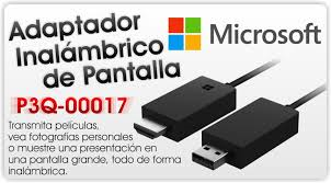 Marca: Microsoft; Código MPN: P3Q-00017; Microsoft Wireless Display Adapter - V2 - wireless video/audio extender - up to 7 m