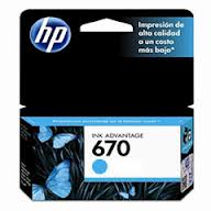 Marca: HP, Código: CZ114AL, HP 670 - Dye-based cyan - original - Ink Advantage - ink cartridge - for Deskjet Ink Advantage 3525, Ink Advantage 4615, Ink Advantage 4625, Ink Advantage 5525