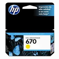 Marca: HP, Código: CZ116AL, HP 670 - Dye-based yellow - original - Ink Advantage - ink cartridge - for Deskjet Ink Advantage 3525, Ink Advantage 4615, Ink Advantage 4625, Ink Advantage 5525