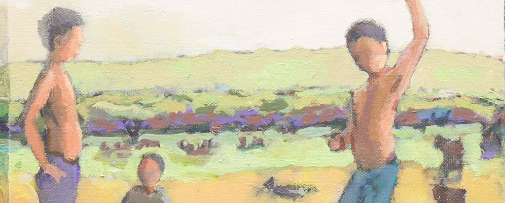 Boys in Mililani Field (study)