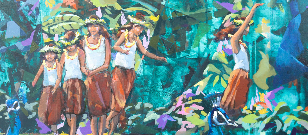 Girls in Waimea Valley