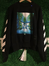 Load image into Gallery viewer, Off White Waterfall Crewneck