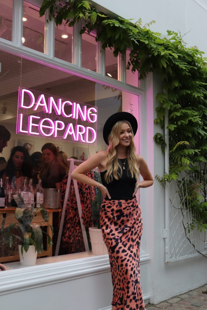 lady outside the front of Dancing Leopard pop up shop on Portobello Road