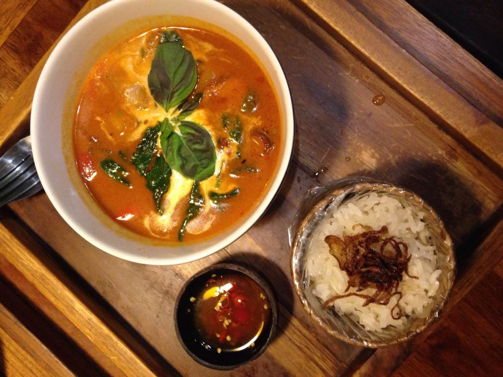 bowl of red curry from Buddha Bowl - Ubud