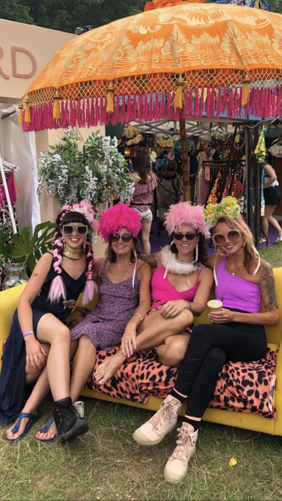 group of girls sat on sofa at Dancing Leopard Boxpark