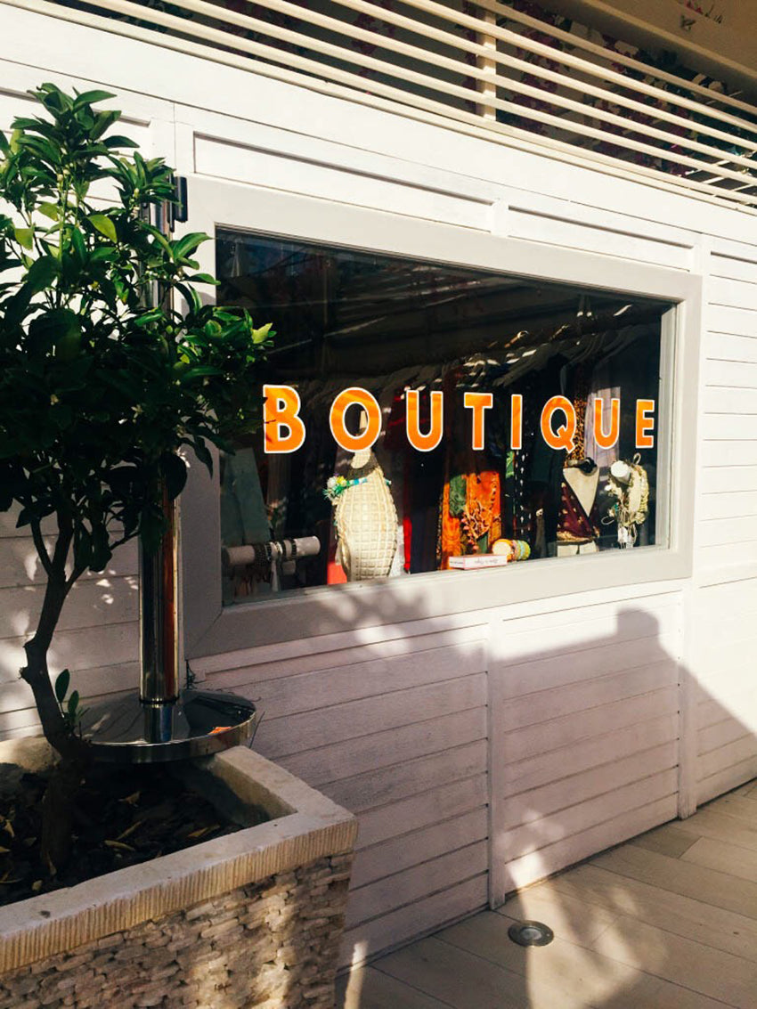 outside the front of Ocean Beach boutique
