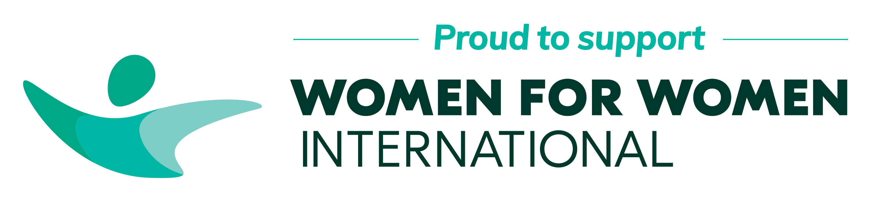 proud to support Women for Women banner