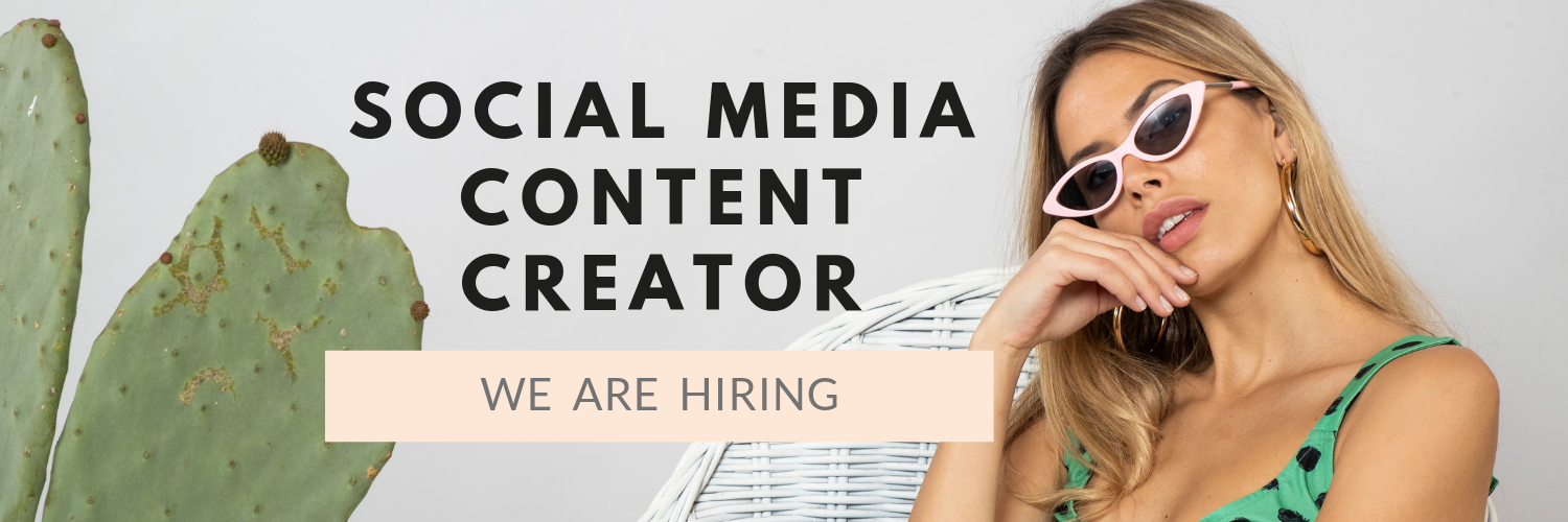 social media content creator we are hiring banner