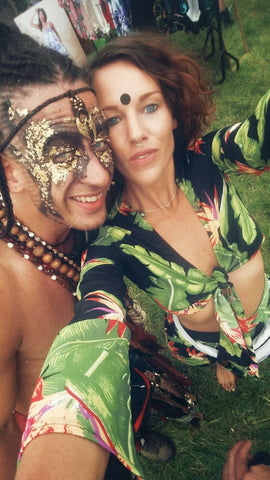 couple wearing Dancing Leopard at Secret Garden Party