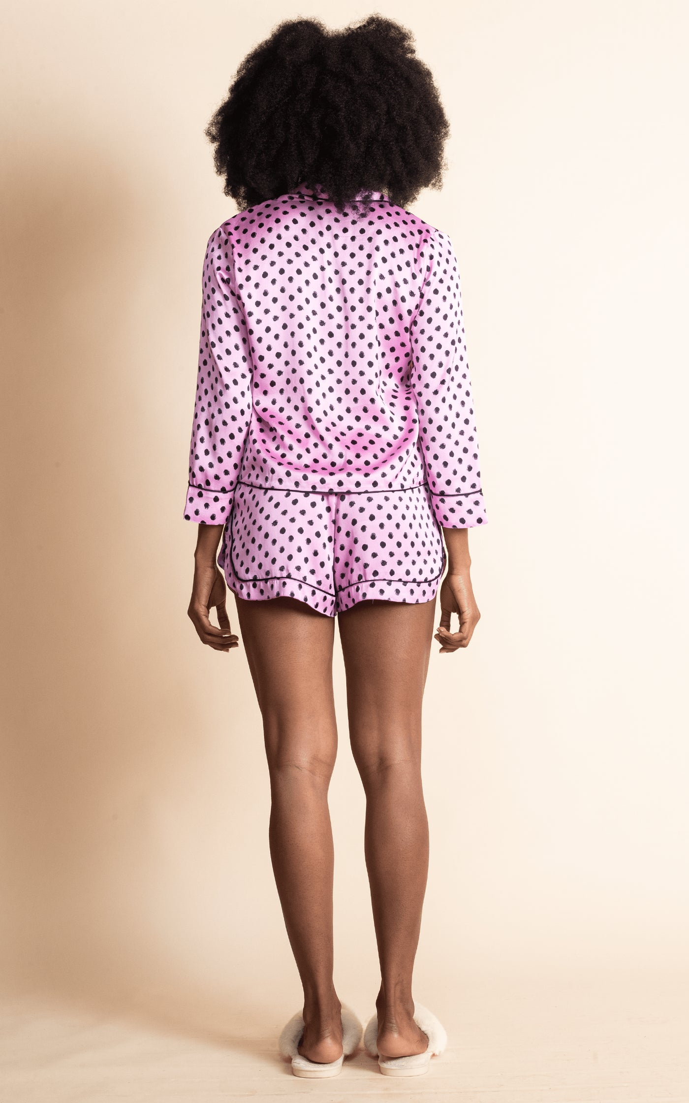 Oona Shortie PJ Set in Pink Dotty