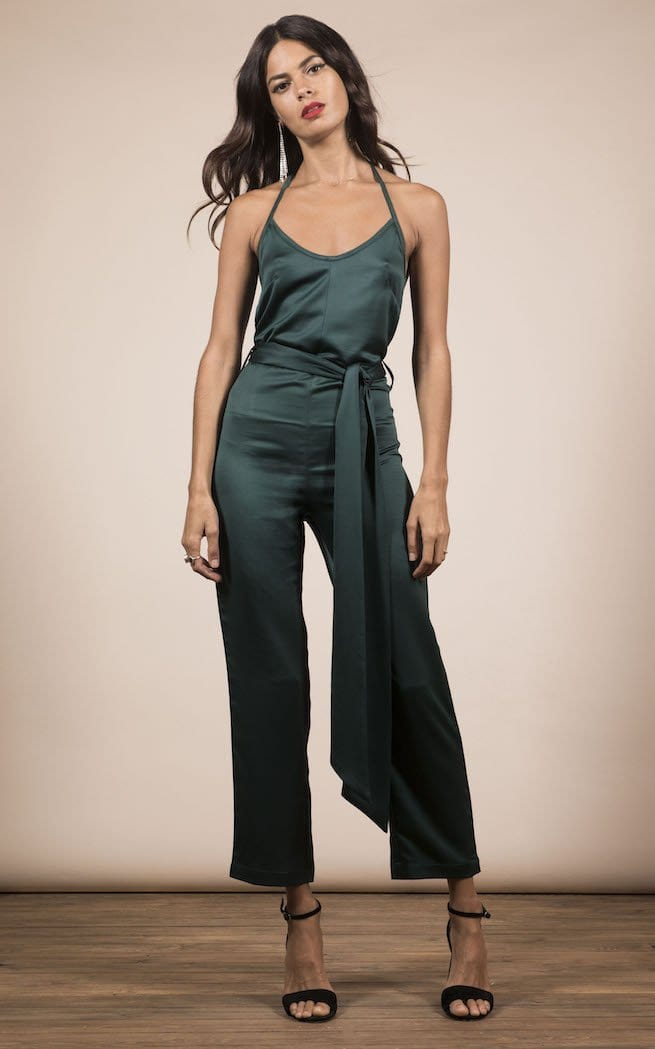 Lexi Jumpsuit In Pine Green