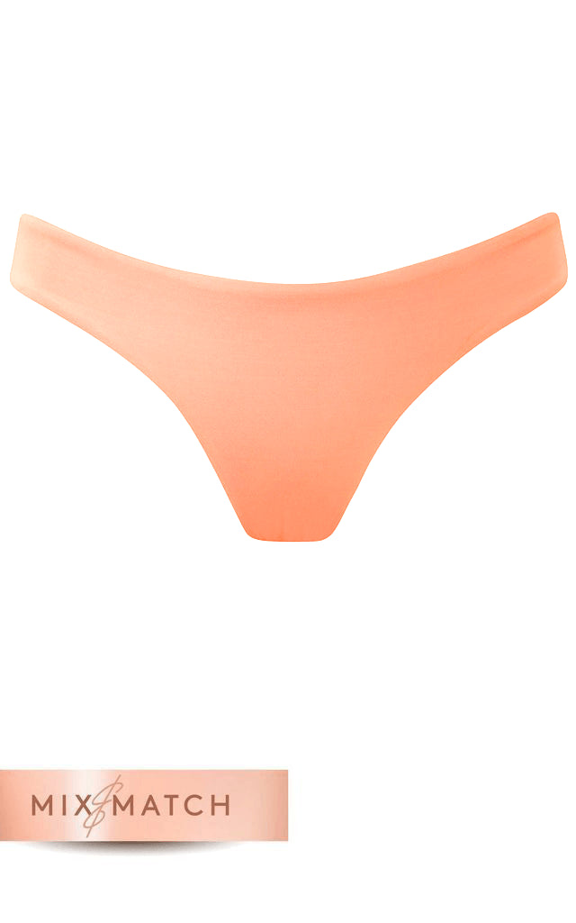 Front view of Dancing Leopard Tallulah Bottoms in Peach on white background