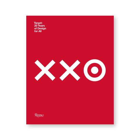 Bright red book cover with two white 'x' and an 'o' with a small circle in the middle, the target logo. Title in white letters in upper left corner