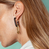 Horn Capped Link Earrings
