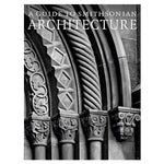 Book cover with black and white photograph of a gothic architectural detail showing columns with ornately carved capitals or caps below layered arches each with a different carved pattern. Title in all caps white serif letters at top