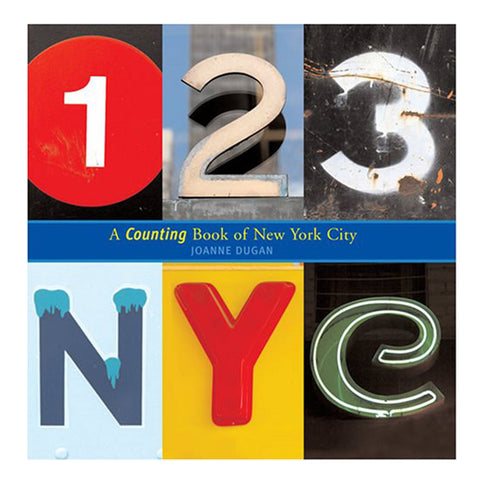Square book cover with six photographs of numbers and letters found in New York City spaces that spell out the title of the book. Colors and patterns range from neon to spray paint to sans sarif subway signage