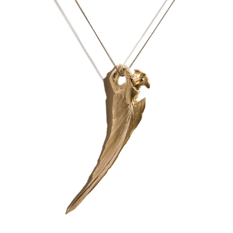 Eugenie Necklace Fish Wing, Gold