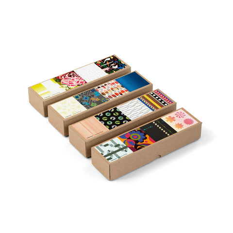 Four memory game boxes