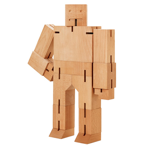 Extra Large Cubebot Natural in standing position with right arm bent on hip.
