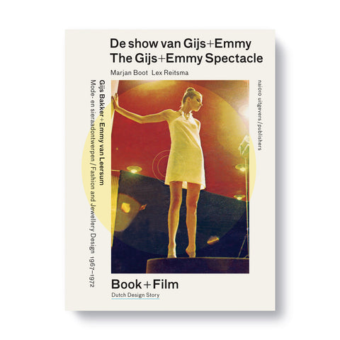 White book cover with photograph of a light skinned figure in a dress standing on a pedestal surrounded by title information in black sans serif letters
