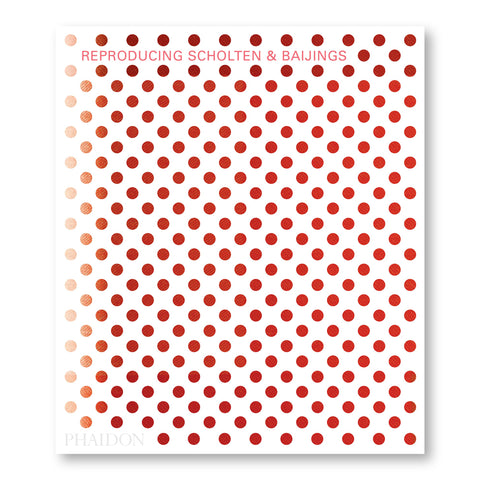 White book cover with evenly spaced cut out dots showing orange gradient underneath. Title in orange near top