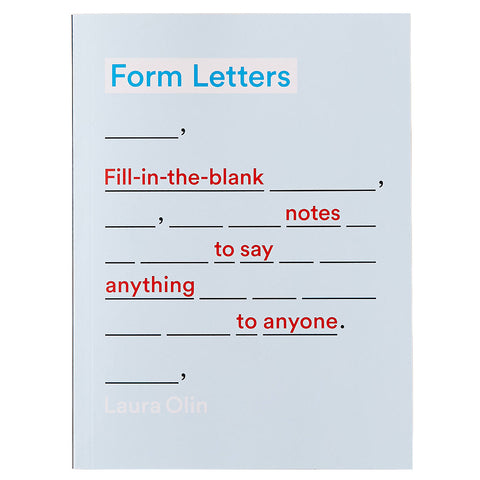 Light blue book cover with underscored blank spaces in black. Book title and subtitle scattered throughout blank spaces