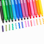 Magic Color Erasing Double-Tipped Felt Markers featuring various designs