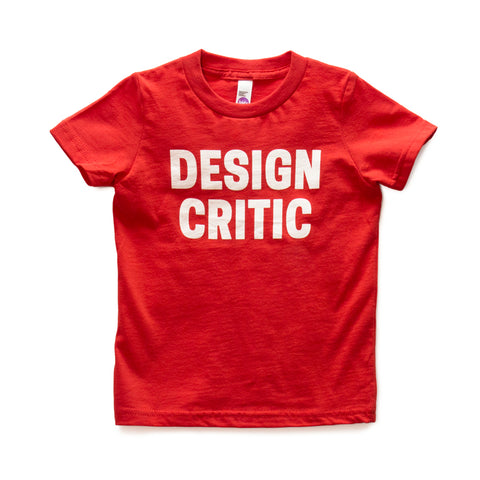 Design Critic Kids T-Shirt