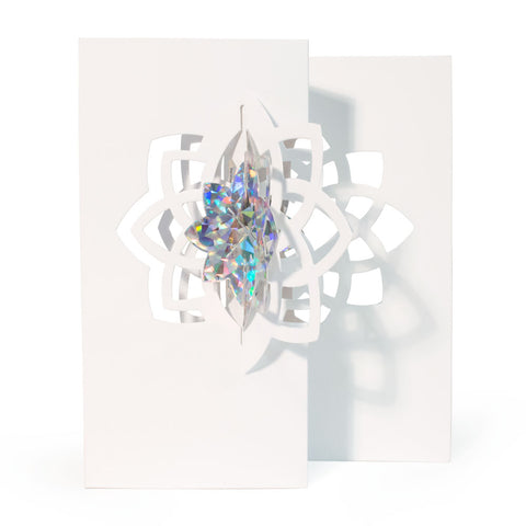 Crystal Star Holiday Cards, Box of 5