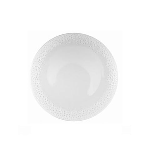 Nymphenburg White Coral Bread Plate Inspired by the sensuous appearance of sun-bleached coral, the round white, wafer-thin plates have pierced and irregular edges.