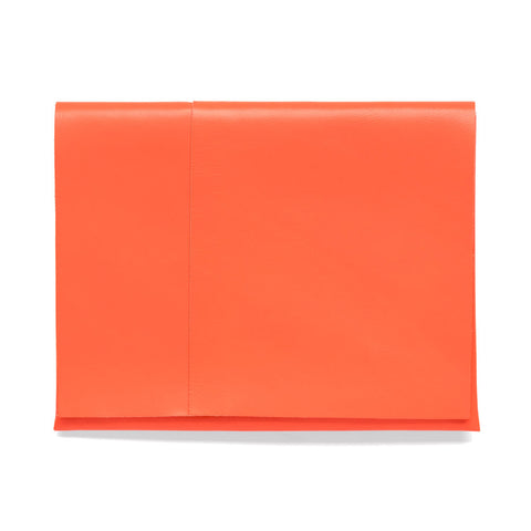 Vibrant orange large rectangle folded pouch