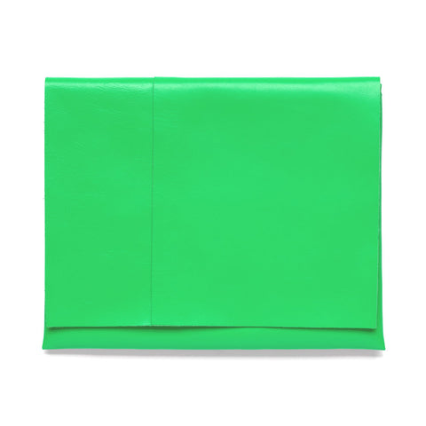Large Folded Pouch Emerald Green