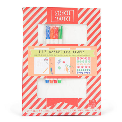 Market Tea Towel Stencil Kit
