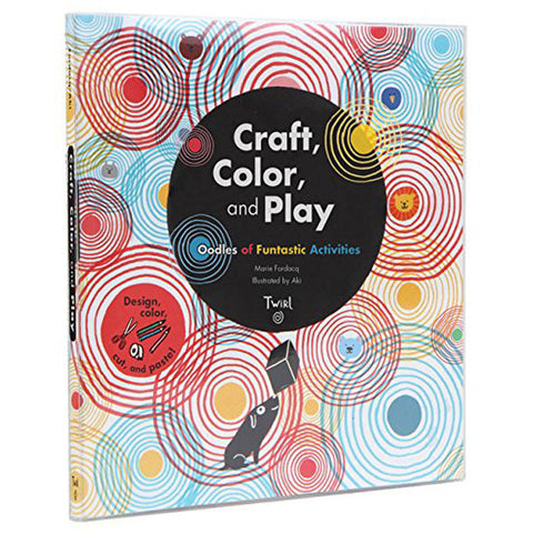 Book cover with colorful spots made up of concentric circles surrounding a large black dot with title