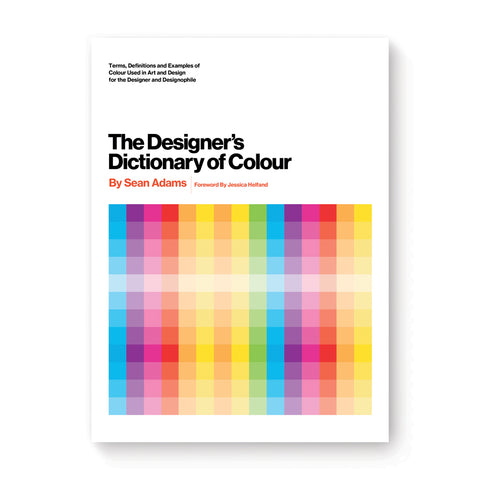 White book cover with striking sans serif title information over a gridded color gradient